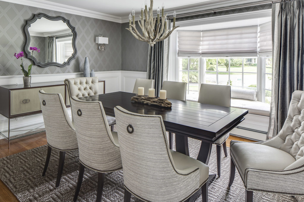 Chic Long Island Dining Room Design by Jennifer Scully