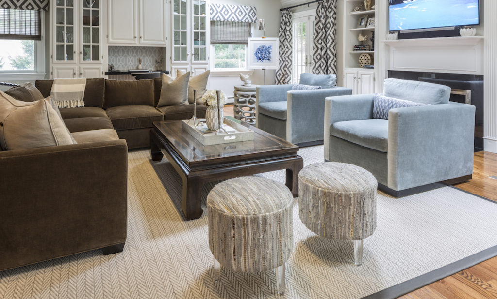 Long Island Living Room Design by Jennifer Scully