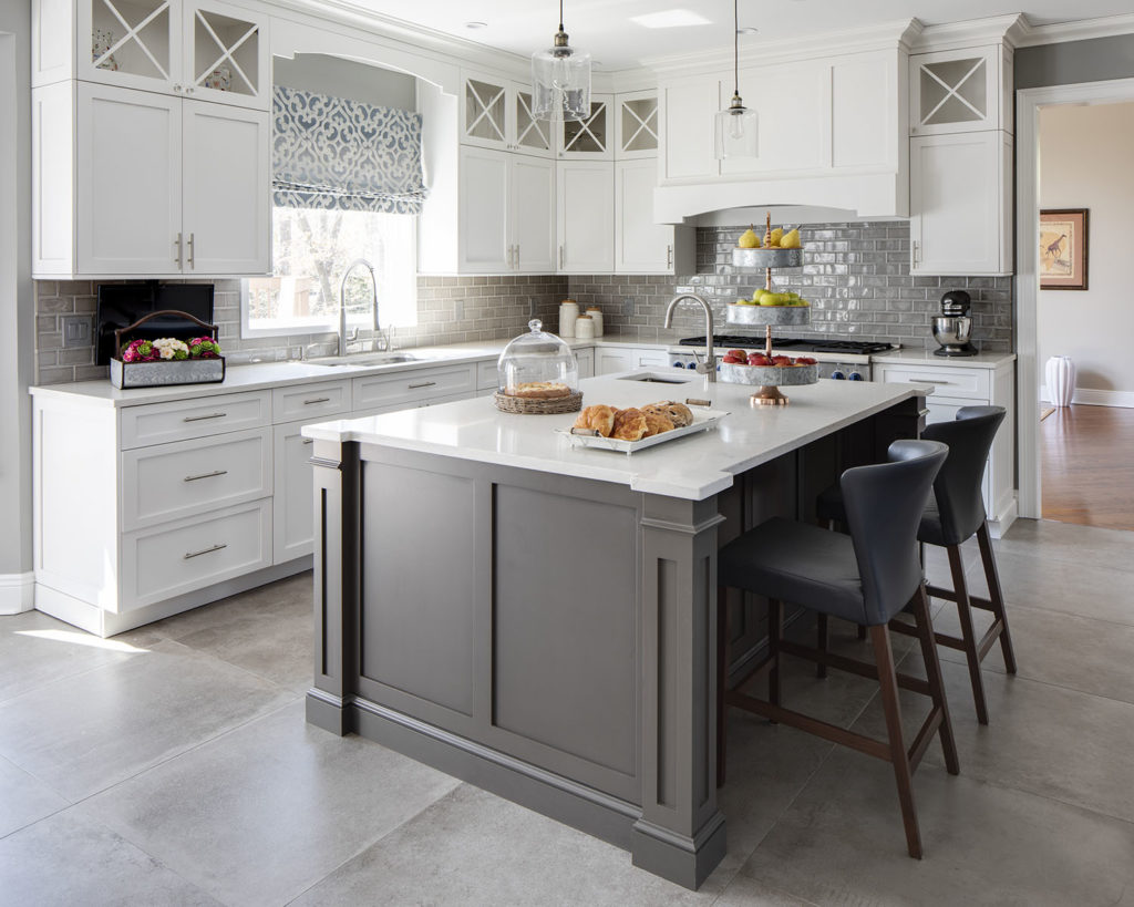 Gray Transitional Kitchen Designed by Jennifer Scully