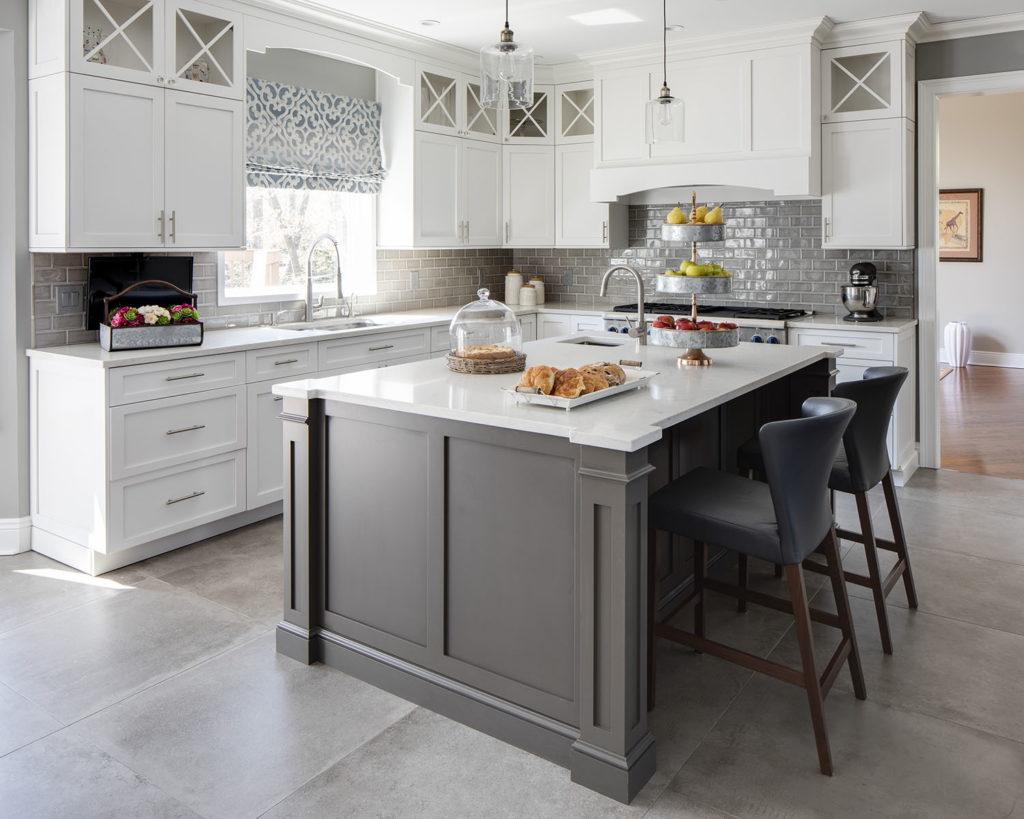 Gray Transitional Kitchen Designed by Jennifer Scully