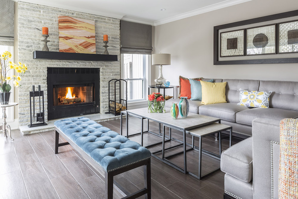 Contemporary Living Room Design by Jennifer Scully
