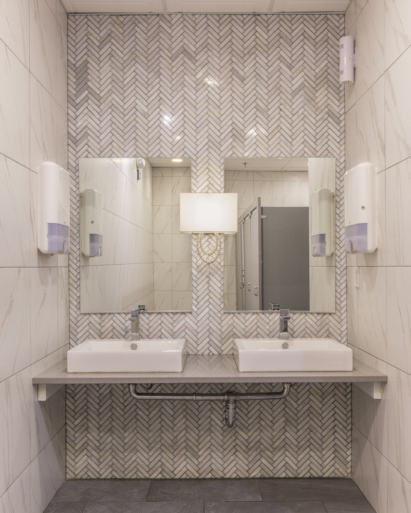 Long Island Commercial Bathroom Design by Jennifer Scully