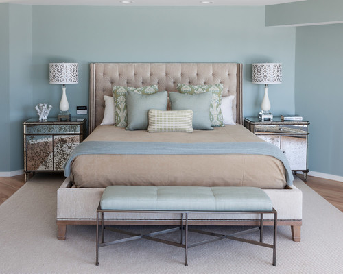 Beach Style Bedroom Designed by Jennifer Scully