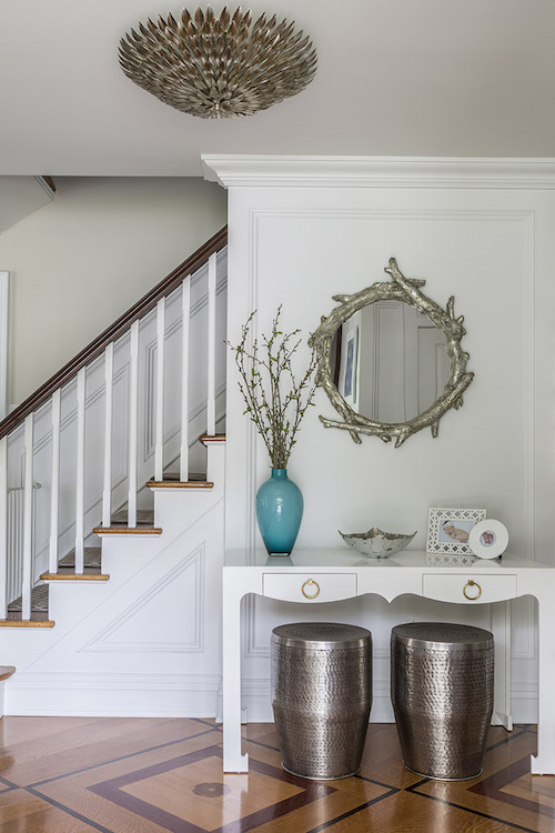 Long Island Entry Foyer Design by Jennifer Scully